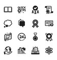 set education icons such as ranking star vector image vector image