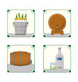 set of bar drinks vector image