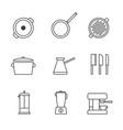 set simple restaurant utensils utensils vector image