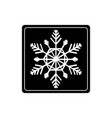 snowflake in black square vector image vector image