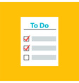 To Do List with Check Marks vector image