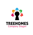 Tree Homes Design vector image vector image