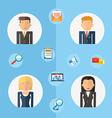 Business teamwork concept flat vector image
