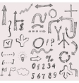 hand drawn arrows icons set on white vector image