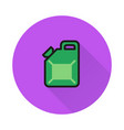 jerrycan icon on round background vector image