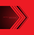 abstract red arrow direction on dark blank space vector image vector image