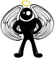 black angel vector image vector image
