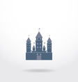 blue castle silhouette logo on white background vector image vector image