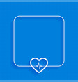 blue medical background with heartbeat line design vector image