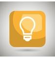 bulb square button isolated icon design vector image