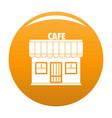cafe icon orange vector image