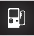 car petrol station on black background for graphic vector image vector image
