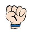 cartoon arm hand fist comic image vector image