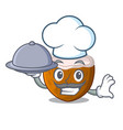 chef with food cartoon beverage coconuts on the vector image vector image