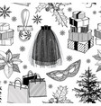 christmas and new year fashion seamless vector image vector image