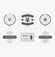 christmas typography ornate labels vector image