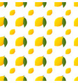 citrus lemon and green leaf pattern isolated vector image vector image