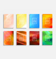 collection bright colorful covers templates vector image vector image
