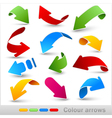 collection colour arrows vector image vector image