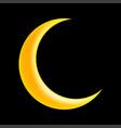 crescent moon symbol icon design vector image