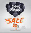 cyber monday sale banner ad template design vector image