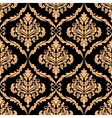 damask floral pattern with brown colours vector image vector image