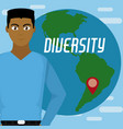 diversity around the world vector image