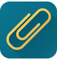 flat icon toy paper clip vector image