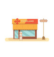 food store front with menu sign restaurant vector image vector image