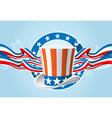 fourth july emblem vector image vector image