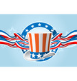 fourth of july emblem vector image vector image