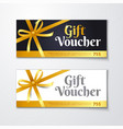 gift voucher certificate discount card template vector image