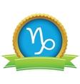 Gold Capricorn logo vector image