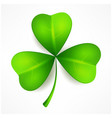 green clover leaf vector image vector image