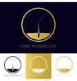 Hair transplant icon vector image vector image