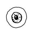 halloween eye doodle element isolated vector image vector image