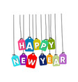 happy new year word vector image vector image
