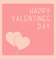 happy valentines day cute background with balloon vector image