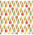 Ice cream scoops and cones seamless pattern vector image vector image