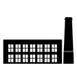 industrial blding factory the black color icon vector image vector image