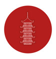 japanese temple isolated icon vector image vector image