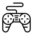 joystick control icon outline style vector image vector image