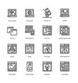 landing page line icons vector image vector image