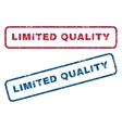 Limited Quality Rubber Stamps vector image vector image