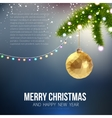 Merry Christmas Happy New Year trendy triangular vector image vector image
