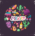 mexico poster vector image vector image