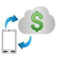 Mobile Cloud Banking Gradient Icon vector image