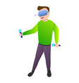 modern game goggles icon cartoon style vector image vector image