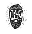 movember vintage design with bearded man head vector image vector image