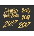 New Year 2017 hand drawn calligraphy numbers set vector image vector image